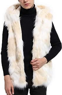 Limsea 2018 Mens Winter Warm Thick Vest Coat Jacket Faux Fur Parka Outwear Cardigan