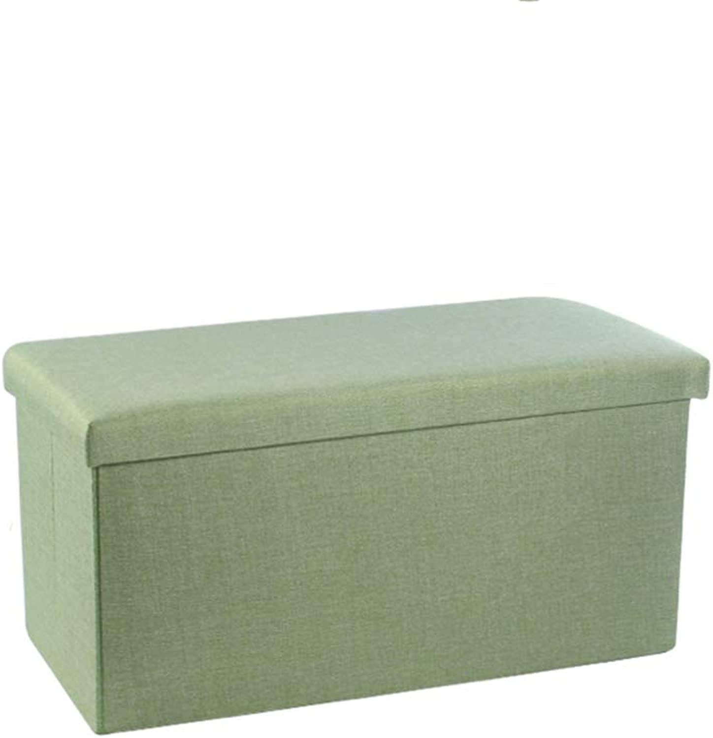 XSJJ Storage Stool, Rectangular Storage Stool can sit Adult Sofa Stool Household Storage Chair Folding Stool 4 color Optional Footstool (color   Beige, Size   50  31  31cm)