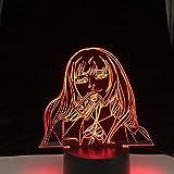 Lámpara nocturna LED 3D ilusión anime Jabami Yumeko para niños dormitorio decoración mesa cumpleaños regalo 7 colores tocando