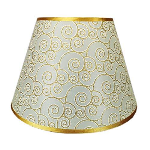 ADSE Pantalla de Tela de PVC, Pantalla de Bricolaje, Pantalla cónica de Tela de algodón, diámetro Inferior 22 cm, Adecuado para lámparas de Mesa, B, 33 cm