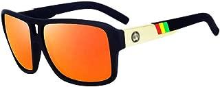 Fashion Polarized Sunglasses Men Driving Mirrors Coating Points Black Eyewear Male Sun Glasses UV400 Retro (Color : Orange)