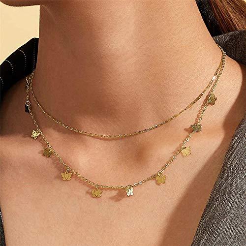Collares Colgante Joyas Modyle, Collar De Cadena De Perlas Simuladas Irregulares Vintage, Collares De Color Dorado para Mujeres, Joyería Punk-43530