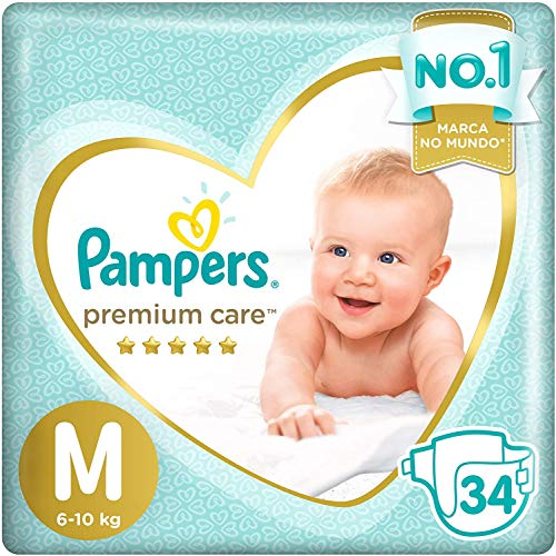 Fraldas Pampers Premium Care M 34 Unidades, Pampers