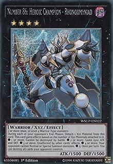 Yu-Gi-Oh! - Number 86: Heroic Champion - Rhongomyniad (WSUP-EN022) - World Superstars - 1st Edition - Prismatic Secret Rare