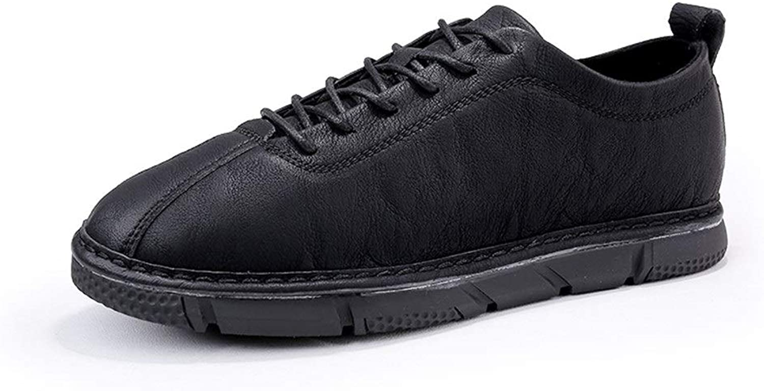 Easy Go Shopping Oxford shoes For Men Lace Up Formal shoes PU Leather Lightweight flexible Comfortable shoes Cricket shoes (color   Black, Size   7.5 UK)