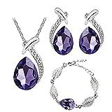 Shuda Parure de bijoux élégante pour femme avec collier et