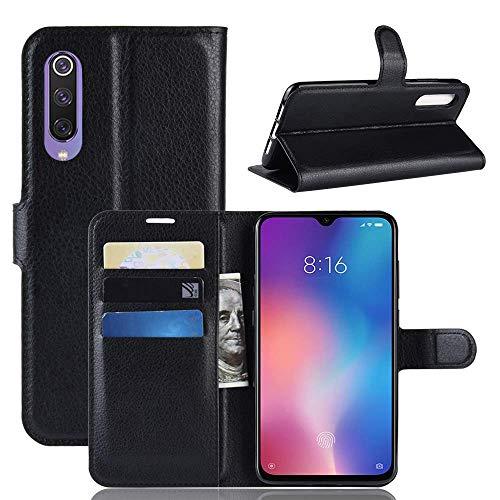 Capa Capinha Carteira 360 Para Xiaomi Mi 9 Normal Tela De 6.39Polegadas Case Couro Flip Wallet - Danet (Preta)