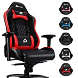 KLIM Esports Gaming Chair with Back & Head Support + Ergonomic Computer Chair with Adjustable Armrests + PU Leather + Very Robust Gamer Chair for Adults + New 2020 Version Office Chair + Red