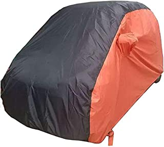 KMT Black+Orange Car Cover Covers Outdoor Indoor for Smart Fortwo Fourfor Waterproof Anti-UV Rays Dirt Dust (2015-2018 2-Doors Smart)