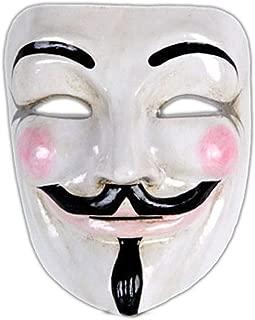 Mens Authentic V for Vendetta Mask White