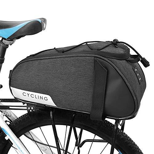 WOTOW Bolsa de asiento trasero para bicicleta, bolsa de asiento trasero para bicicleta