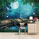 SUUKLI Papel Pintado Fotográfico Autoadhesivo Seta De Vid De Árbol Forestal 200X140Cm Fotomurales Tejido No Tejido Salón Dormitorio Despacho Pasillo Decoración Murales Decoración De Paredes Moderna