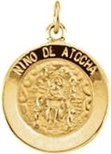 Bonyak Jewelry 14k Yellow Gold 15 mm Nino de Atocha Medal