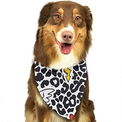 N/B Luipaard Print Lippen Patroon Aangepaste Hond Hoofddoek Heldere Gekleurde Sjaals Leuke Driehoek Bibs Accessoires Voor Huisdier Honden