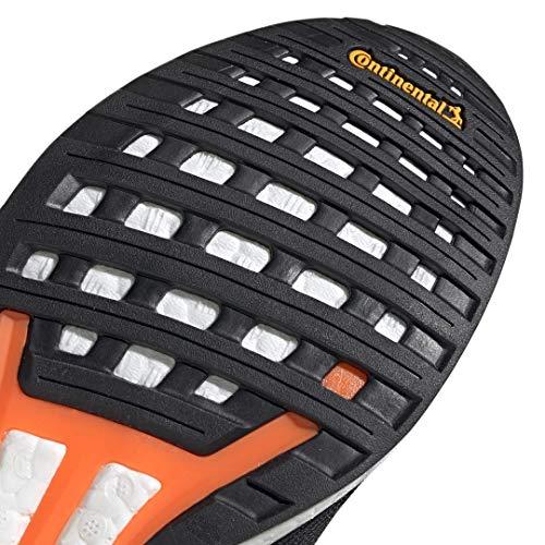 adidas Men's Adizero Boston 8 Running Shoe, Black/White/Grey, 12 M US 8