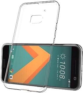 حافظة بتصميم رقيق من السليكون لهواتف اتش تي سي 10 - شفاف