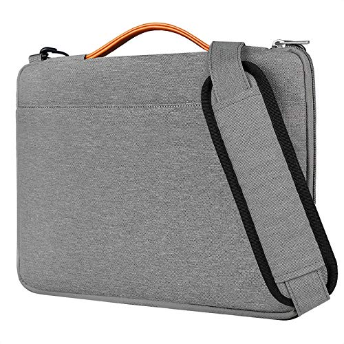 Inateck 14 Inch Laptop Shoulder Bag,  Spill-resistant Laptop Sleeve Case Compatible with MacBook Pro 15 Inch 2019/2018/2017/2016, 14-14.1 Inch Laptop, Chromebook, Notebook, Ultrabook - Gray