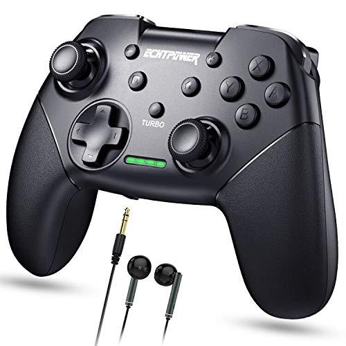 ECHTPower Controller für Switch Pro Controller mit Aufweckfunktion und SNYC Taste , Remote Gamepad für Switch Lite