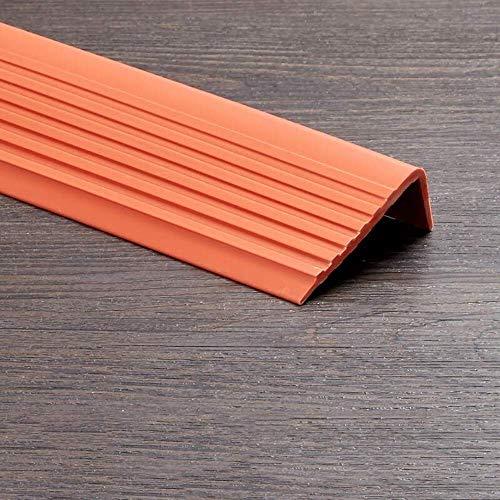 Topshop L-förmige Treppenkantenverkleidung, Treppenkantenstufe Schritt Selbstklebende Treppenkante Treppenstufenkanten-PVC (7 STK.)