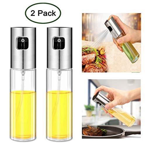 JasCherry 2 Pezzi Cucina Set Spruzzo Bottiglie Spray per Olio d\'oliva e aceto - Ideale e Portatile Bottiglie di condimento per Cottura giornaliera/Barbecue all\'aperto/Viaggio in Campeggio/Insalata