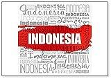 Imán para nevera con diseño de nube de Indonesia