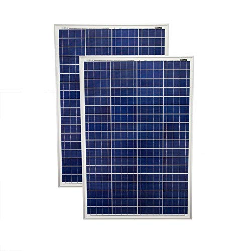 Mighty Max Battery 200 Watt Solar Panel Poly 2pc 100w Watts 12V RV Boat Home - 2 Pack Brand Product