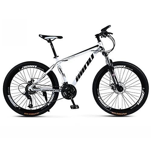 UYHF 21/24/27 Velocidad Bicicleta De Montaña para Hombres Adultos Rueda De 26', Bicicleta De Acero con Alto Contenido De Carbono, Bicicleta De Montaña De Velocidad Varia B- 24 Speed