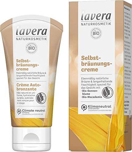 Lavera Selbstbräunungscreme Gesicht mit Bio-Sonnenblumenöl & Bio-Macadamia 2 x 50ml