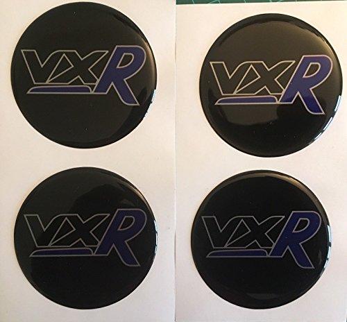 SCOOBY Designs Vauxhall VXR Centre de roue en alliage en forme de dôme Stickers X4 Corsa Insignia Astra Bleu R toutes les tailles