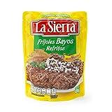 La Sierra - Frijoles bayos refritos listos para calentar y servir. Indispensables para acompañar cualquier platillo o para enfrijoladas. Bolsa de 430g.