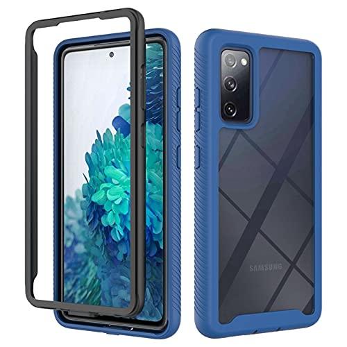Flyuzi Protección Completa Funda telefónica de acrílico para Samsung Galaxy S20 Fe S21 S10 Nota 10 20 A21S A31 A02 A51 A71 5G A22 A12 A32 A52 A72 (Color : Navy Blue, Material : A72 4G)