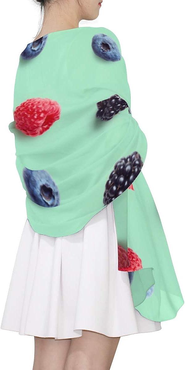 Long Scarfs For Women Blackberries Fresh Fruit Womens Scarf Lightweight Fashion Scarf Lightweight Lightweight Print Scarves Cool Scarfs For Women Womans Shawl Wrap