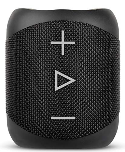 Sharp GX-BT180 (BK) Stereo-Bluetooth-Lautsprecher - kräftiger Bass - hochdynamischer Klangbereich / 10 Stunden Spielzeit /Staub-Spritzwassergeschütz/ Mikrofon für Telefonate, Google & Siri - Schwarz