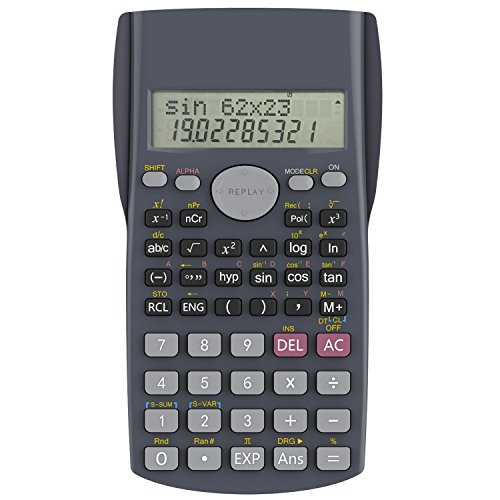 Helect H-1002- Calculadora Científica, 2 Líneas Muestran, Gris