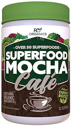 Super Greens Powder | Mocha Chocolate | Whole Foods Supplement | Real...