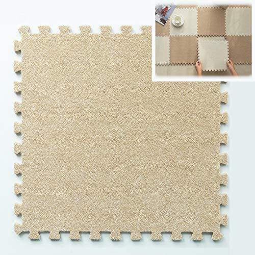 ZEHYRFGK Tapijt Tegels/Matten, Puzzel Oefening Mat met EVA Foam Interlocking Tile, Wasbaar/Niet Slip, Thuis, Beschermende Vloeren, 12×12in