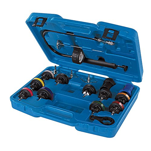 Silverline Tools Silverline 647951 Radiator Pressure Test Kit 18pce, Multicoloured
