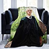 Hlashxh Draco-Malfoy Blanket Ultra-Soft Bed Skin-Friendly Flannel All Seasons for Bedroom Sofa Comfortable Weighted Blankets and Throws (Draco-Malfoy, 50X40In)