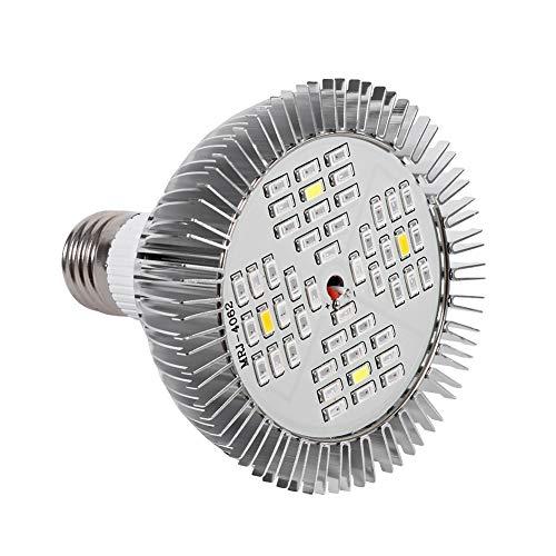 GOTOTOP Bombilla LED de Cultivo 48W, Bombilla LED de Espectro Completo para Plantas E27 Luces de Cultivo para Plantas de Interior Jardín Flores Invernadero hidropónico