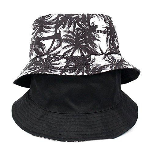 ccHuDE Unisex Coconut Tree Bucket Hat Summer Beach Hat Dual Use Sun Hat Outdoor