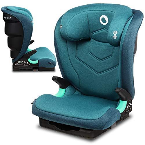 Lionelo Neal silla coche grupo 2-3 Isofix i-Size protección lateral respaldo ajustable en 3-posiciones altura del reposacabezas ajustable sistema de ventilación (Turquesa)