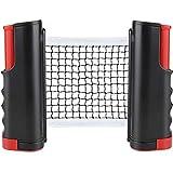 CHUER Red de Tenis de Mesa, Red Ajustable de Ping Pong Repuesto Porttil Retrctil Table Tennis Net - Ping Pong Net para Entrenamiento Abrazaderas, Longitud Ajustable 170 (MAX) x 14.5cm
