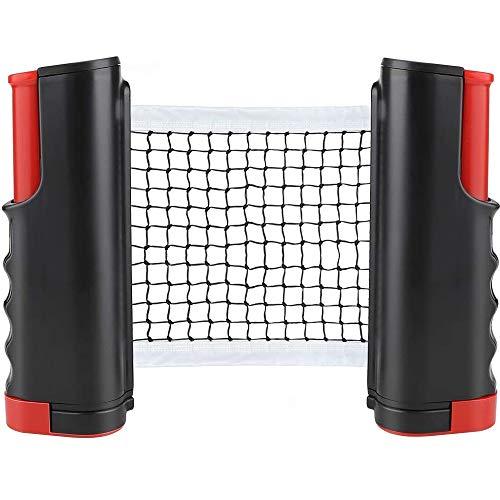 CHUER Tischtennisnetze Tischtennis Netze, Justierbarer Einziehbares Netz Ping Pong Ersatznetz, Beweglicher Reisehalter - Einstellbare Länge 170(max) x 14,5cm