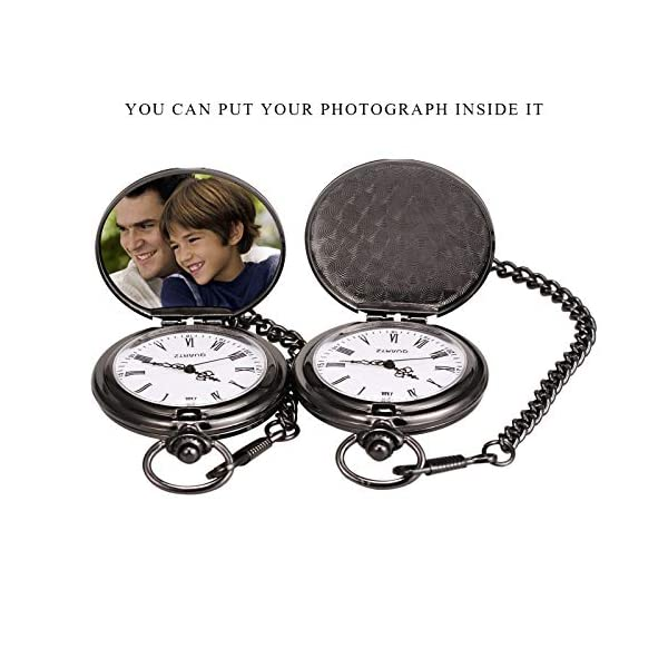 TREEWETO Men's Pocket Watch Gifts for Men Brother Engraved to My Brother Christmas
