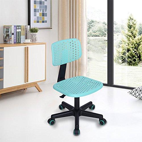 FurnitureR ltd Mobili Home Office Task Computer Sedie Con Schienale Medio Girevole Regolabile Per I Bambini I Bambini Di Studio, Turchese