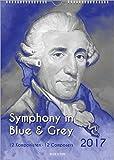 Komponisten-Kalender 2017, DIN-A-3: Symphony in Blue & Grey - 12 Komponisten/12 Composers