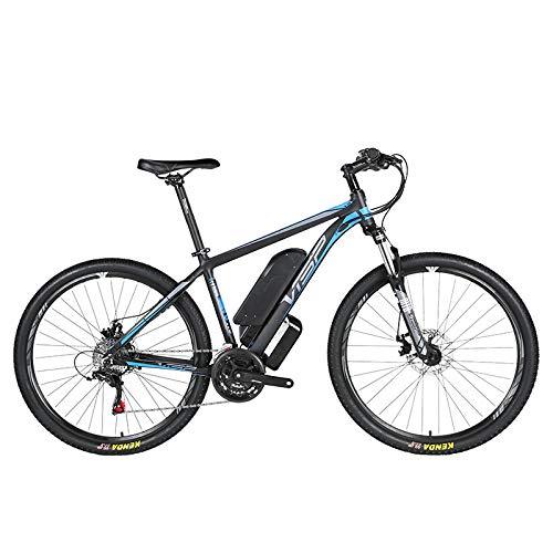 HJHJ Bicicleta de montaña eléctrica, batería híbrida de Litio 36V10AH (26-29 Pulgadas) Bicicleta para Nieve 24 líneas tracción mecánica del Disco línea mecánica de Freno de Disco,Blue,29 * 15.5in