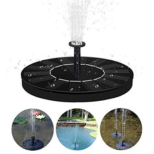 MGRETT Solar Springbrunnen, Solar Teichpumpe Garten Wasserpumpe Solarpumpe, 2020 Neu Solar Fountain für Gartenteich, Fisch-Behälter, Vogel-Bad, Garten Springbrunnen, Pool (Schwarz)