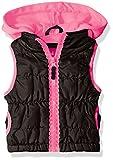 Pink Platinum Little Girls' Toddler Lace Zipper Tape Vest, Black, 3T