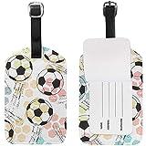 Imprimir balón de fútbol Etiquetas de Equipaje, Etiquetas Bolsa de Viaje Etiquetas de identificación para Las Maletas de Equipaje